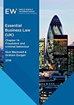 ESSENTIAL BUSINESS LAW (UK) - CHAPTER 14: FRAUDULENT AND CRIMINAL BEHAVIOUR - 2016-17