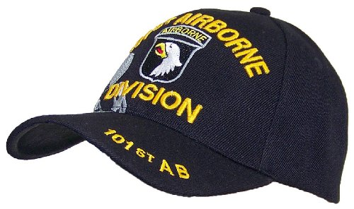Y&W Headgear Y&W 101st. Airborne Division With Winged Parachute Adjustable Hat (One Size)