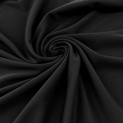Black Sports Mesh Fabric Dimple Mesh Fabric by the Yard (1 Yard) by Stylishfabric   B00MH8P3IW