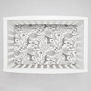 Carousel Designs Gray Woodland Animals Mini Crib Sheet 1-Inch-4-Inch Depth - Organic 100% Cotton Fitted Mini Crib Sheet - Made in the USA