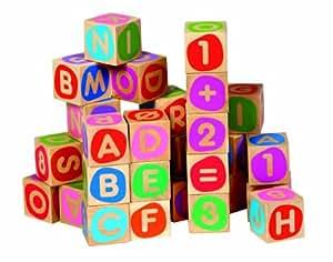 Micki 10.2074.00  - Bloques de madera con letras y números