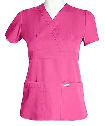 6561d90e85e Barco Grey's Anatomy 4153 Women's Mock Wrap Top Cosmo 3XL: Amazon.in ...