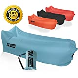 Inflatable Air Lounger – Perfect for Travelling, Camping, Beach and Pool! Used as Air Chair, Hangout Sofa, Couch, Hammock, with carry bag. Easy to Inflate!