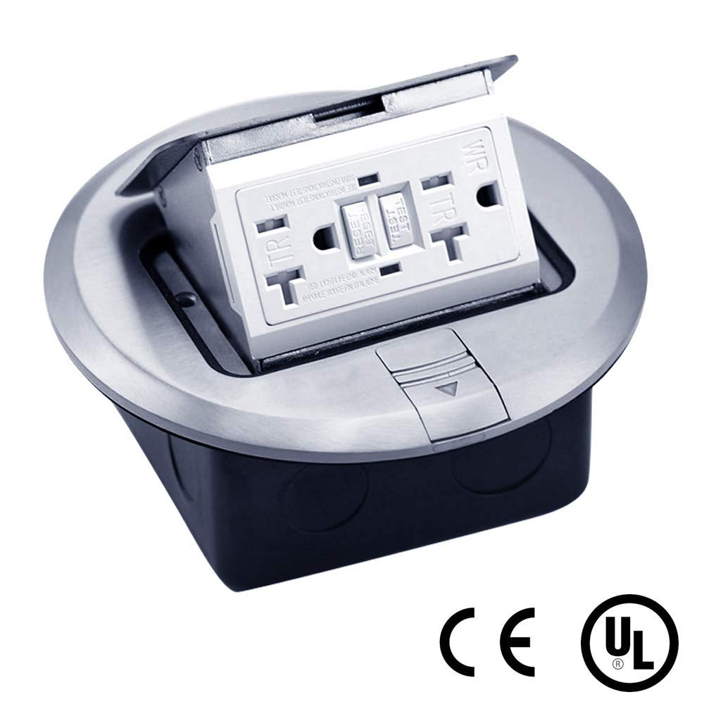 Multi-Application Electrical Floor Outlet Box Aluminium Cover with Cast-iron Junction box