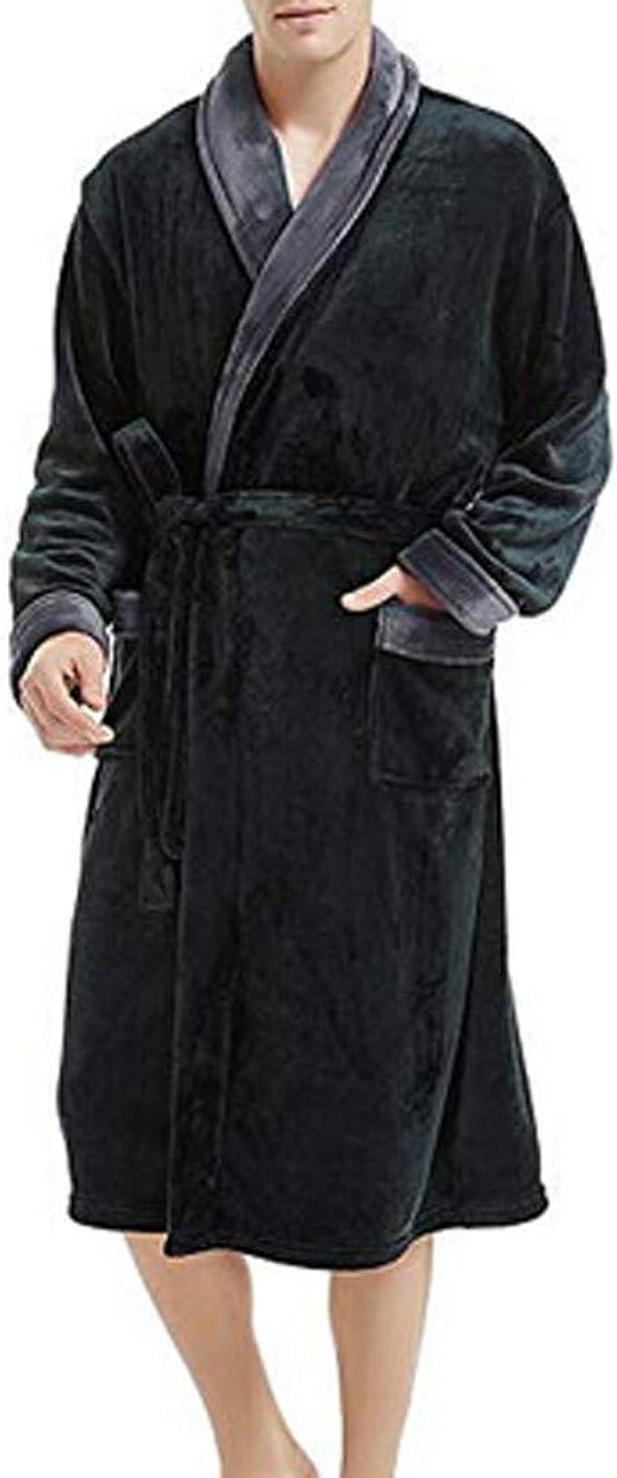 Nouveau Gris Doux Polaire Peignoir à capuche poches Peignoir Unisexe femmes Homme