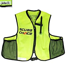 Scuba Choice Scuba Choice Snorkeling Oral Inflatable Snorkel Jacket Vest with Pockets