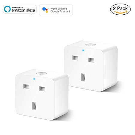 1 Pack IrisCargo Smart Plug Mini WiFi Plug 13A Compatible with  Alexa Google Assistant Support IFTTT Remote Control Timer Plug Socket Smart Socket No Hub Required