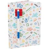 """LEGO Stationary Journal with Brick Plate and Gel Pen - Multicored Cover with Red Brick and Blue Pen - 96 Wide Ruled Pages - 6"""" x 8 1/4"""""""