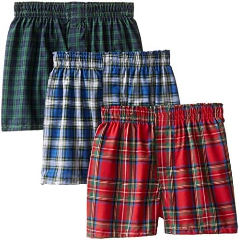 Hanes Boys' 3 Pack Ultimate Tartan  Boxer