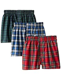 Hanes boys Big Boys 3 Pack Ultimate Tartan Boxer