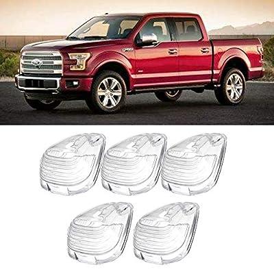 5x Clear Cab Marker Clearance Light Lens for Ford F-150 F-250 E-150 E-250 E-350 E-450 Super Duty Pickup Trucks 1999-2020: Automotive