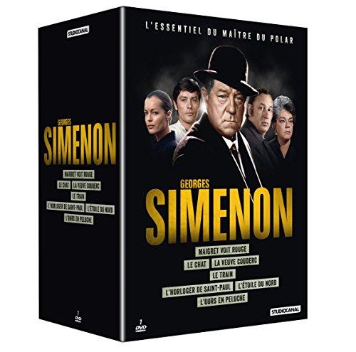 Coffret Georges Simenon: Le chat + L'étoile du nord + L'horloger de Saint-Paul + Maigret voit rouge + L'ours en peluche + Le train + La veuve Couderc (Simenon Le Chat)