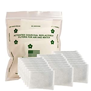 Green Piece - 24 Pack All-Natural Baby Diaper Pail Deodorizer | Activated Charcoal Air Purifier Compatible with Diaper Genie & Ubbi Pails, Shoe Closets, Trash Cans, Pets - Made in The USA