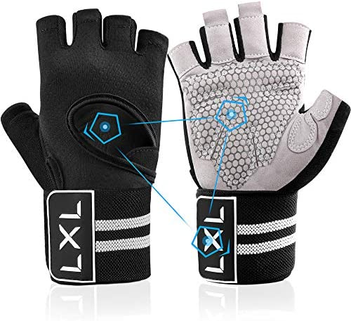 [Latest 2021] Spring Workout Gloves Men Women Full Finger Weight Lifting with Wrist Wrap Support for Gym Exercise Fitness Training Weightlifting, Hanging, Pull ups, Lifts (Made of Microfiber)