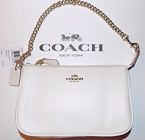 Coach Pebbled Leather Wristlet Handbag