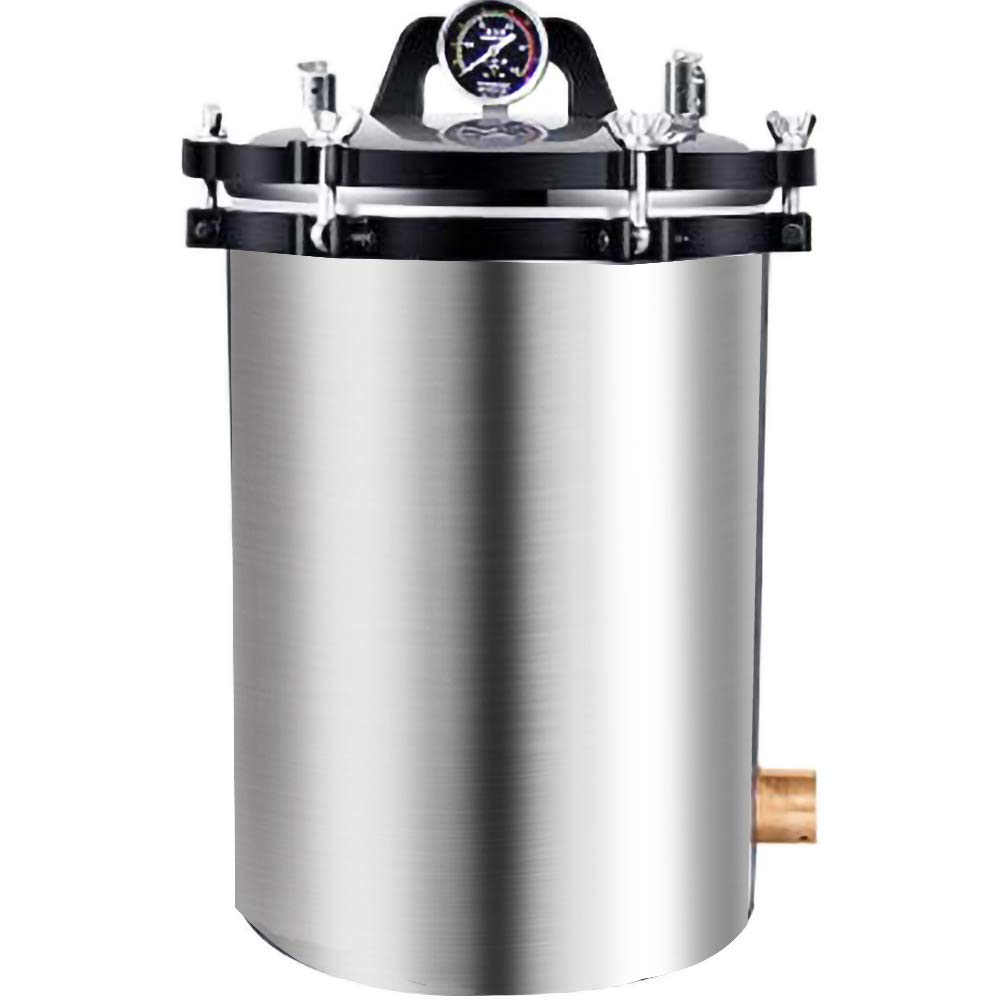 BAOSHISHAN 24L Steam Autoclave 6.2Gallon Steam Lab Autoclave Coal and Electric Heating System Available High Pressure Autoclave 110V (24L)