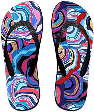 ビーチシューズ フルカラーな幾何柄 ビーチサンダル 島ぞうり 夏 サンダル ベランダ 痛くない 滑り止め カジュアル シンプル おしゃれ 柔らかい 軽量 人気 室内履き アウトドア 海 プール リゾート ユニセックス