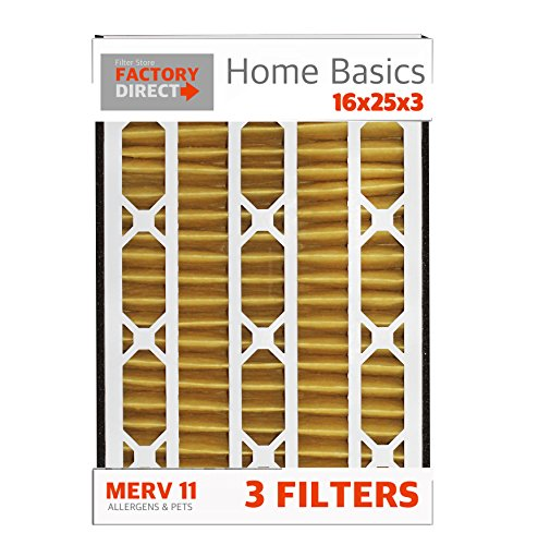 16x25x3 Trion Air Bear Replacement Air Filters (3 Pack), MERV 11, Compatible with 229990-101, 435790-028, 488902-002