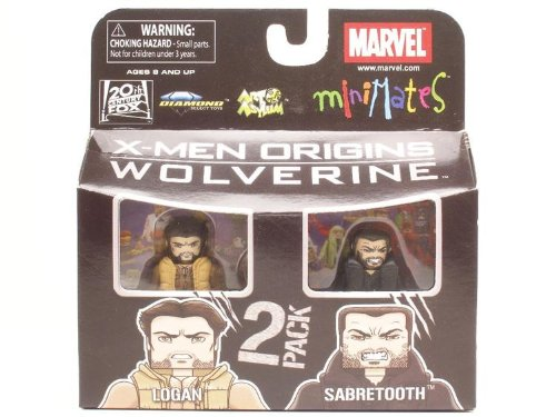 Marvel MiniMates Series 26 2-Pack Logan and Sabretooth