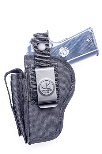 Outbags OB-29SC (RIGHT) Nylon OWB Belt Gun Holster with Mag Pouch for (Rifle Mag Pouch Belt Loop)