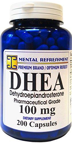 Rafraîchissement mentale: DHEA 100MG 200 capsules - favorise les niveaux d'hormones optimal pour les hommes et les femmes #1 meilleur