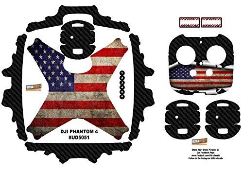 American Usa Flag Dji Phantom 4 P4 Skin Wrap Decal Sticker Vinyl Ultradecal Skinz