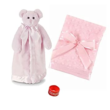 950b08399e Amazon.com   Bearington Baby Bear Hugs Snuggler and Small Dottie Snuggle  Blanket Baby Shower Gift Set with Dimple Ring   Baby
