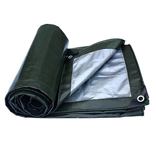 PENGFEI Tarpaulin Waterproof Garden Shade Moisture-proof Dust-proof Windproof Wear-resistant Anti-oxidation, Dark Green + Gray, 10 Size (Color : Green+gray, Size : 4X5M)