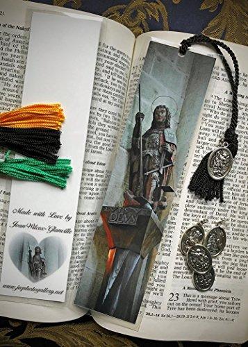 QVIS VT DEVS Archangel Michael at Mont St. Michel Normandy France Europe Gothic Medieval Abbey Architecture Fine Art Photography Photo Laminated Handmade Catholic Bookmark w/Archangel Michael Medal by JWPhotography Gallery