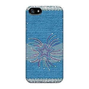 CADike Iphone 5/5s Well-designed Hard Case Cover Lace And Jeans Protector
