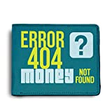 ShopMantra Money Not Found Printed Canvas Leather Wallet for Men's