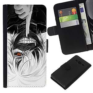 KLONGSHOP // Tirón de la caja Cartera de cuero con ranuras para tarjetas - Aviso de muerte - Samsung Galaxy A3 //