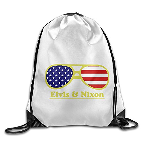 Bekey Elvis & Nixon Sunglasses Drawstring Backpack Sport Bag For Men & Women For Home Travel Storage Use Gym Traveling Shopping Sport Yoga - University Shopping Park