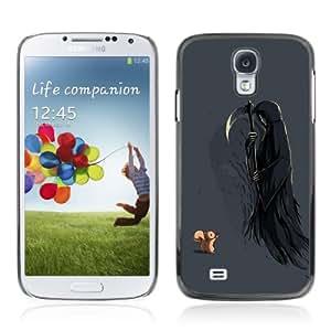 CQ Tech Phone Accessory: Carcasa Trasera Rigida Aluminio Para Samsung Galaxy S4 i9500 - Squirrel & Death Funny Illustration
