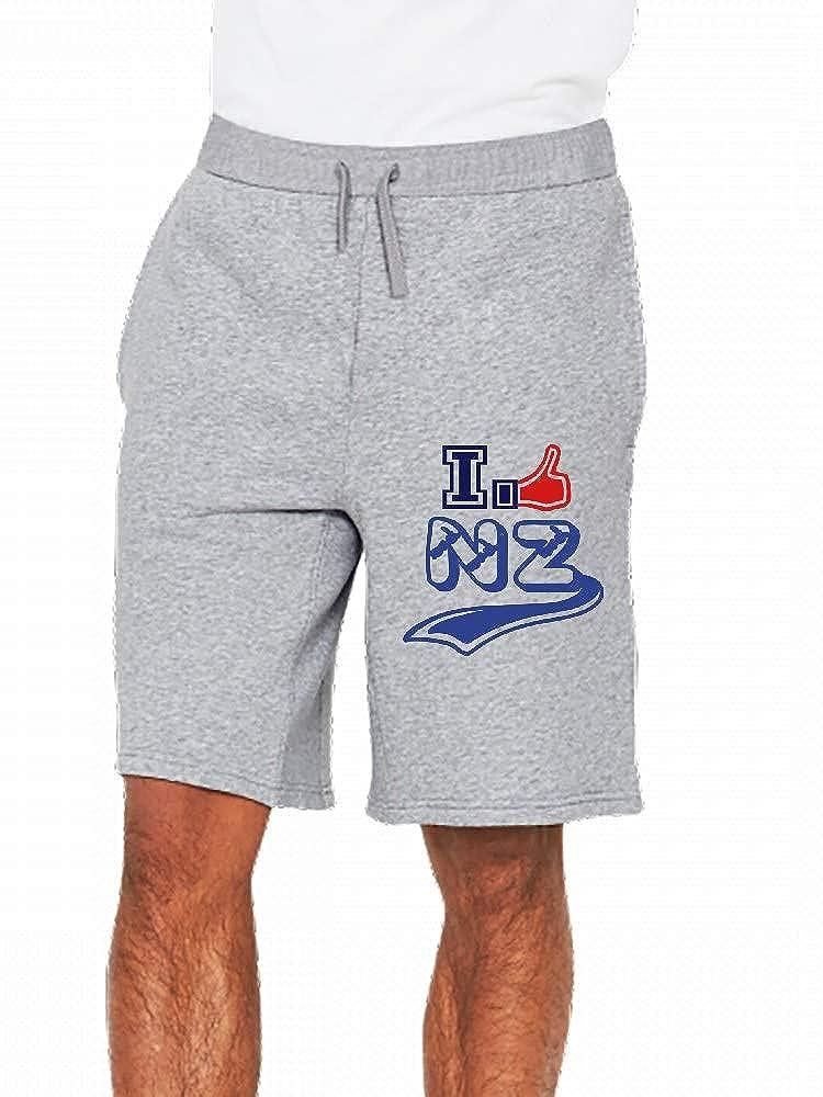 JiJingHeWang I Like New Zealand Mens Casual Shorts Pants