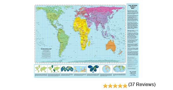 Workbook continents for kids worksheets : Peters Projection World Map - Laminated: Arno Peters, ODTmaps.com ...