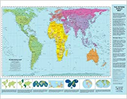Gall Peters Projection World Map.Peters Projection World Map Laminated Arno Peters Odtmaps Com
