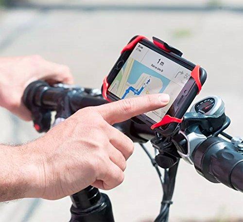 Soporte Base Universal Bicicleta Moto Para Celular (Rojo)