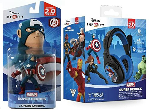 Disney Infinity: Captain America w/ Marvel Super Heroes Turtle Beach Headset NEW Bobble Headset