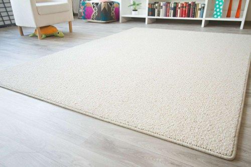 Designer Teppich Modern Berber Sydney in Creme, Wollsiegel Qualität, Größe: 160x230 cm