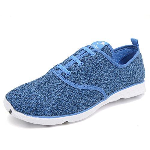 eyeones Womens Mesh Slip On Water Shoes Sapphire