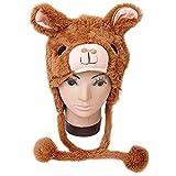 Maggift Winter Plush Animal Hat Alpaca