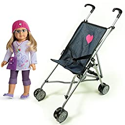 My First Umbrella Doll Stroller in Denim for Toddler