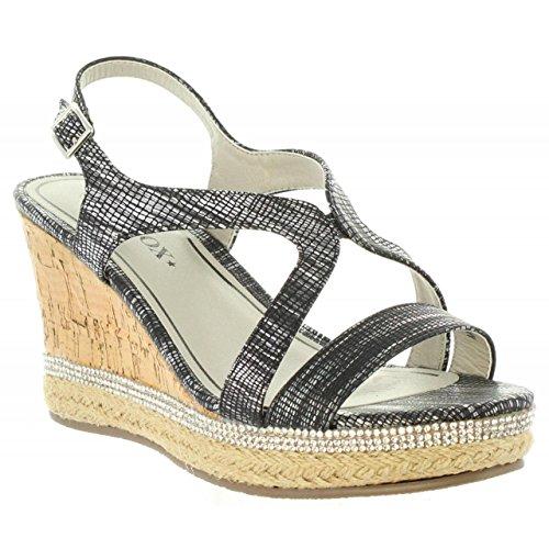 Urban Sandalias de Mujer 398901-B6600 Pewter