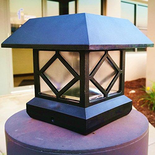 Solar Light Post Cap Lights 4 X 4 Plus Bright 15 Lumen