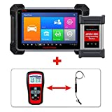 Autel MK908P Diagnostic Scanner with TPMS Reset Tool TS401 and J2534 MaxiVideo MV105 for ECU Programming, Coding, Bi-Directional Control, Complete Systems Diagnoses and Tire Sensor Activate