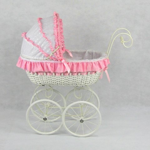 Regal Doll Carriages Jacqueline Carriage (Wicker Doll Buggy)