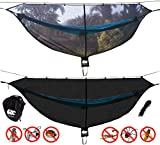 CHILL GORILLA 11' BUG NET Stops Mosquitos, No See Ums & Repels Insects. Fits ALL Camping Hammocks. Compact, Lightweight. Eno Accessory. Fast Easy Setup. Size 132