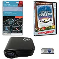 Virtual Reality Christmas Projector Kit with Projector AtmosCheerFX Winter Wonderland DVD and High Resolution Screen