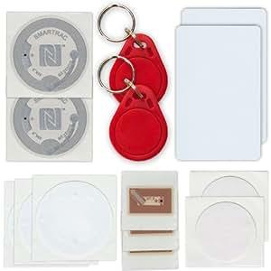 Kit NFC Tags : 14 Tags NFC (10 etiquetas, 2 llavero, 2 tarjeta)